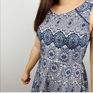 My Michelle blue lace dress